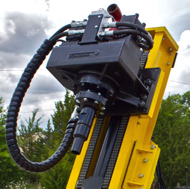 High torque micropiling drill head