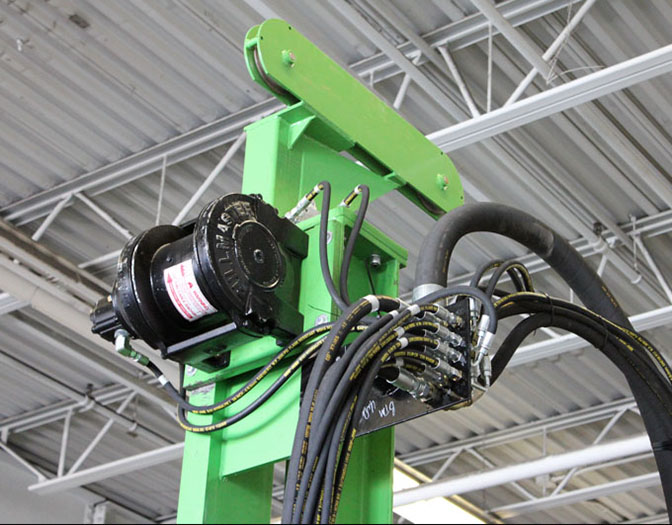hydraulic winch for drill rig