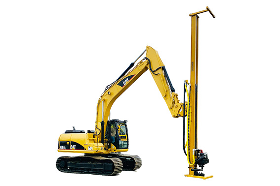 excavator-rock-drill-attachment-mast