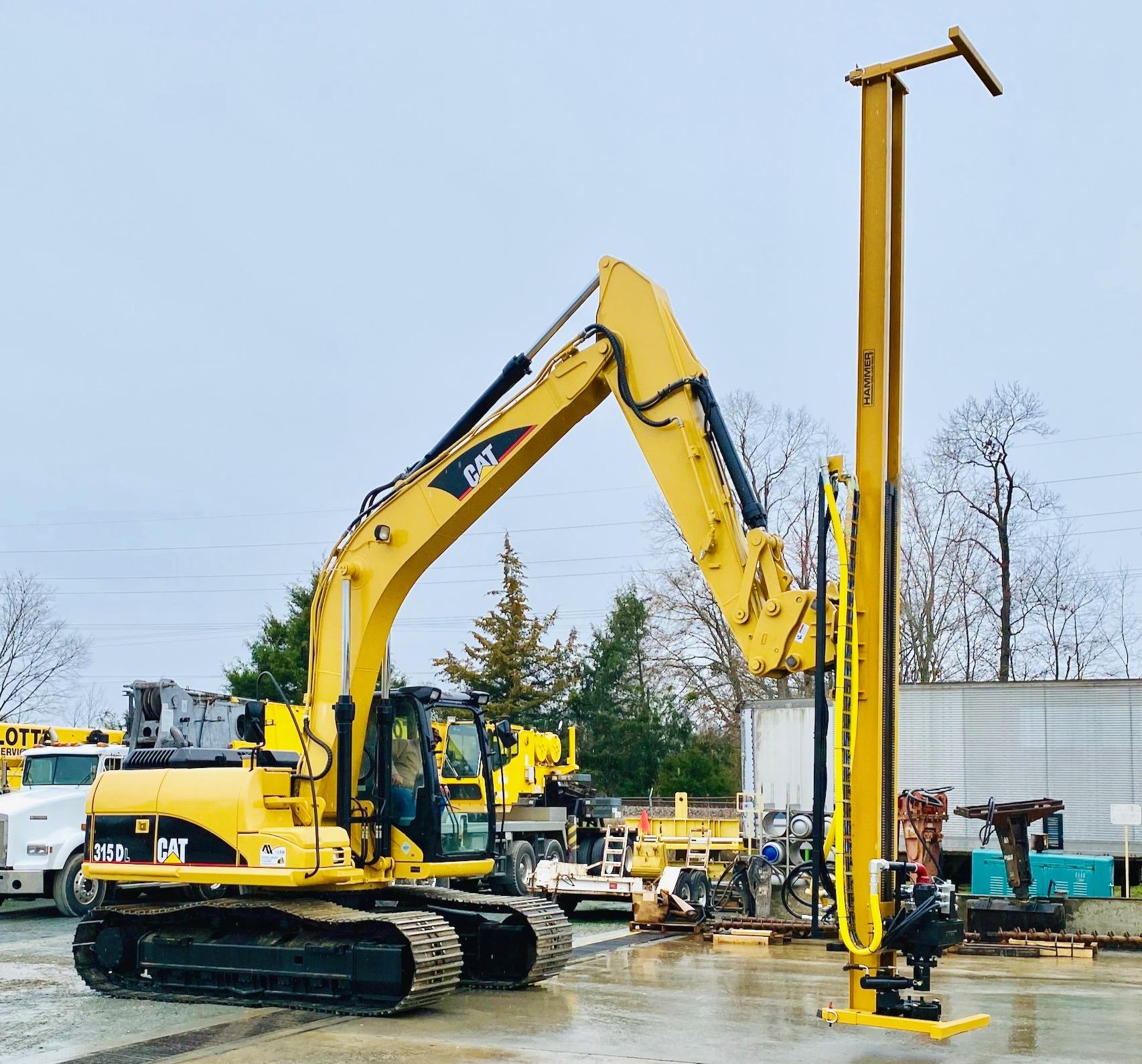 K6 Drill Mast Attachment for Excavator rock drilling